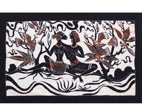 Batik - lovers & birds