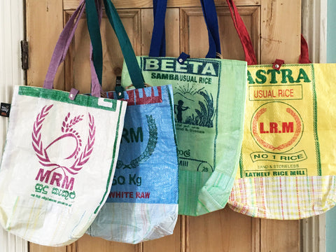 Rice sack shopping bag - 7 colours