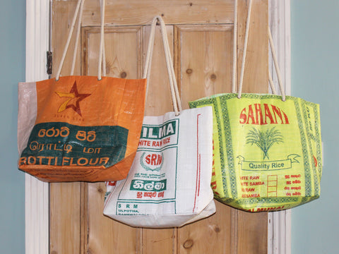 Rice sack beach bag - 7 designs
