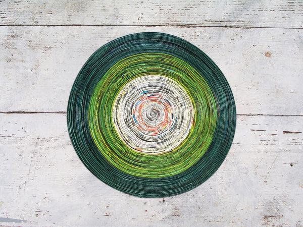 Newspaper table mat - Round, small; 6 colours