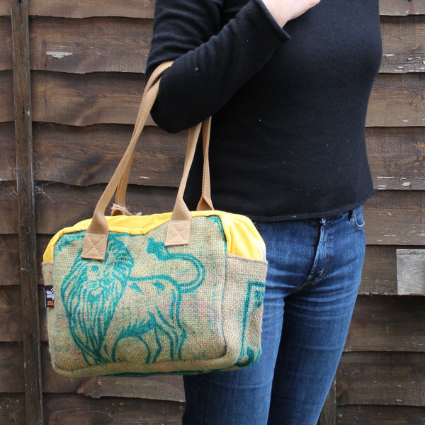 Hessian handbag - 5 colours