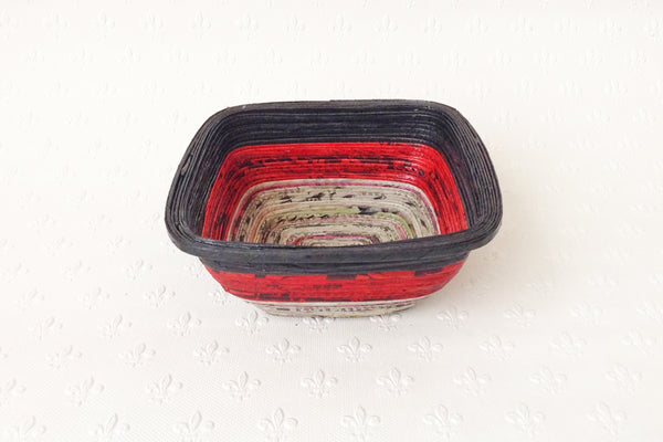 Newspaper bowl - Square, Small, 6 colours