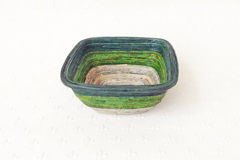 Newspaper bowl - Square, Small, 5 colours