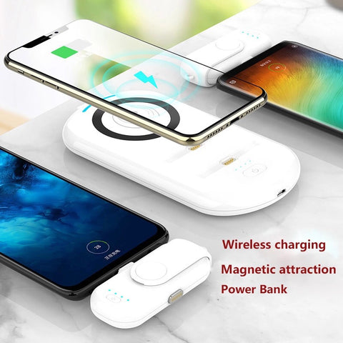 Exclusive Magnetic Qi Power Bank with 2 Compact Power Banks