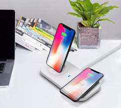 Qi Wireless Charger with 3 Port Charging Dock
