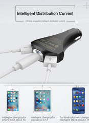 3-in-1 Fast Charging 3 Port Car Charger
