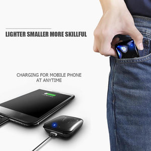 Ultra Slim True Wireless EarBuds IPX7 + 2000mah Power Bank