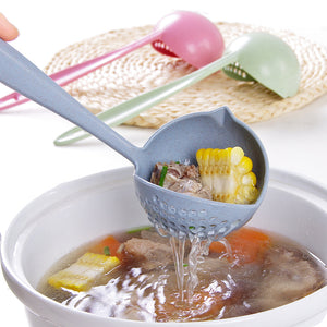 2 In 1 Long Handle Soup Spoon
