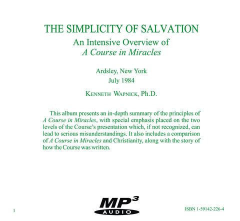 The Simplicity of Salvation [MP3]