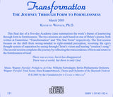 Transformation: The Journey through Form to Formlessness [CD]