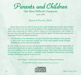 Parents and Children: Our Most Difficult Classroom [CD]