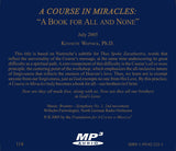 """A Course in Miracles"": ""A Book for All and None"" [MP3]"