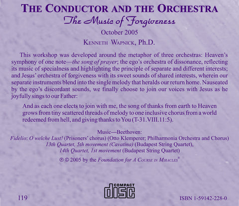 The Conductor and the Orchestra: The Music of Forgiveness [CD]