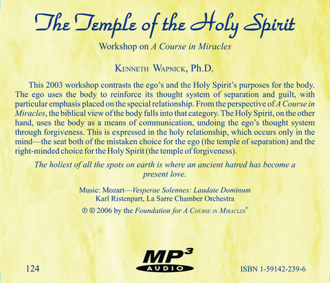 The Temple of the Holy Spirit [MP3]