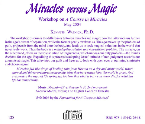 Miracles versus Magic [CD]