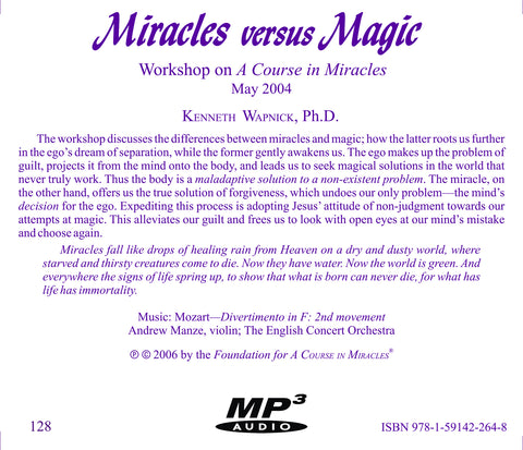 Miracles versus Magic [MP3]