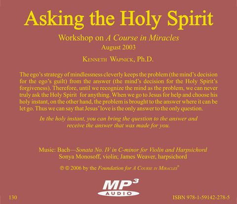Asking the Holy Spirit [MP3]