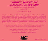 """Nothing So Blinding As Perception of Form"" [MP3]"