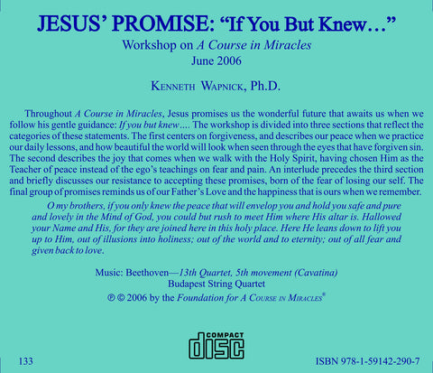 "Jesus' Promise: ""If You But Knew..."" [CD]"