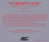 """To Believe a Lie"" [MP3]"