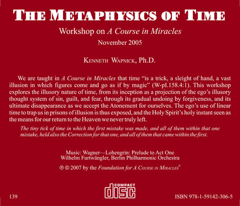The Metaphysics of Time [CD]
