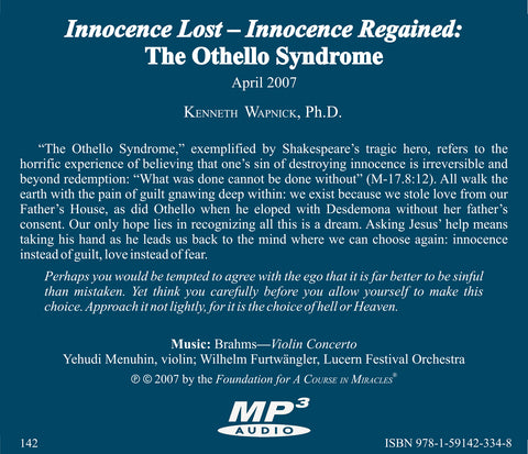 Innocence Lost - Innocence Regained: The Othello Syndrome [MP3]