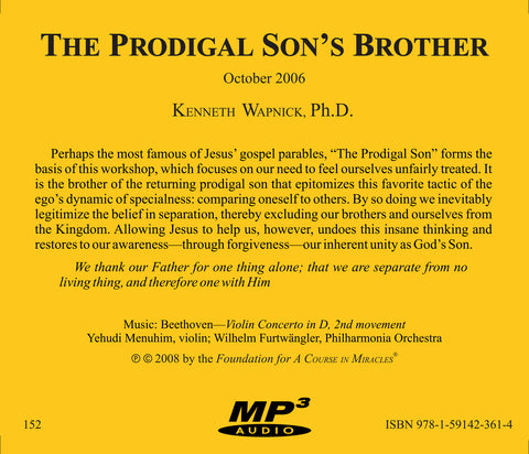 The Prodigal Son's Brother [MP3]