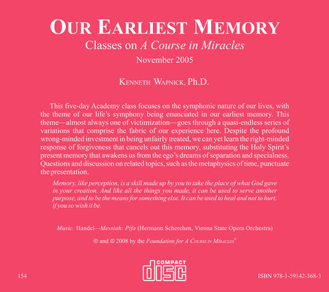 Our Earliest Memory [CD]