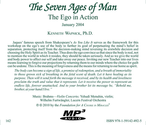 """The Seven Ages of Man"": The Ego in Action [MP3]"