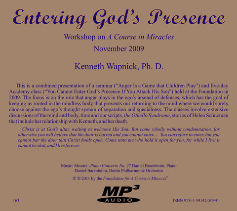 Entering God's Presence [MP3]