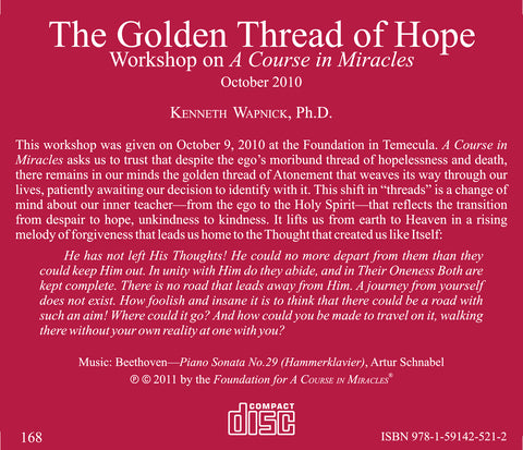 The Golden Thread of Hope [CD]
