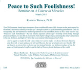 """Peace to Such Foolishness!"" [CD]"