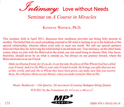 Intimacy: Love Without Needs [MP3]