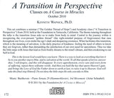 """A Transition in Perspective"" [CD]"