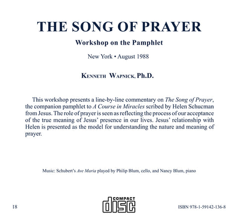 The Song of Prayer [CD]