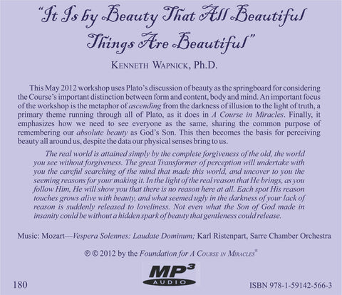 """It Is By Beauty That All Beautiful Things Are Beautiful"" [MP3]"