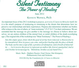 """Silent Testimony"": The Power of Healing [CD]"
