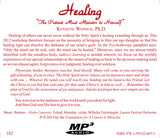 "Healing: ""The Patient Must Minister to Himself"" [MP3]"
