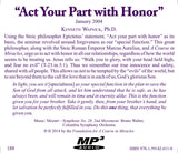 """Act Your Part with Honor"" [MP3]"
