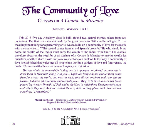 The Community of Love [CD]