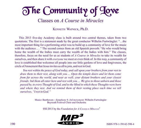 The Community of Love [MP3]