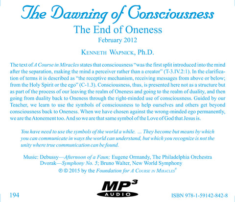 The Dawning of Consciousness: The End of Oneness [MP3]