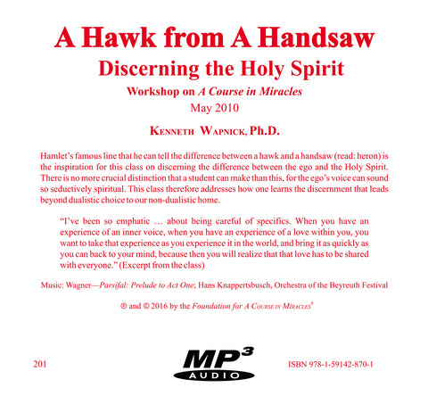 """A Hawk from a Handsaw"": Discerning the Holy Spirit [MP3]"