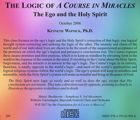 "The Logic of ""A Course in Miracles"": The Ego and The Holy Spirit [CD]"