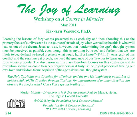 The Joy of Learning [CD]