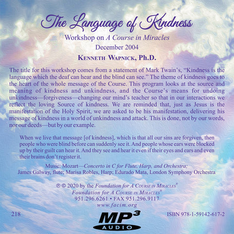 The Language of Kindness [MP3]