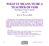 What It Means to Be a Teacher of God [CD]