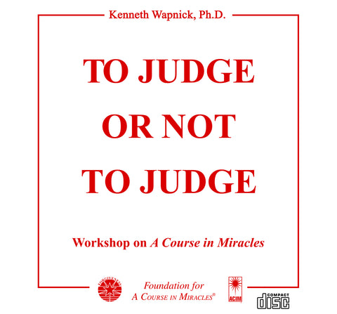 To Judge or Not to Judge [CD]