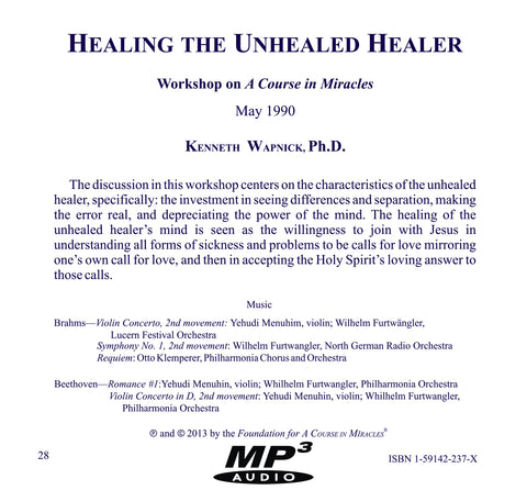Healing the Unhealed Healer [MP3]