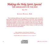 Making the Holy Spirit Special: The Arrogance of the Ego [CD]
